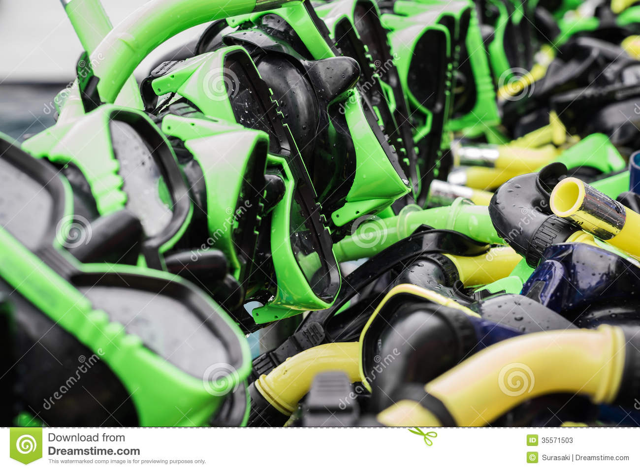 Diving Masks And Snorkels Stock Photos Image 35571503