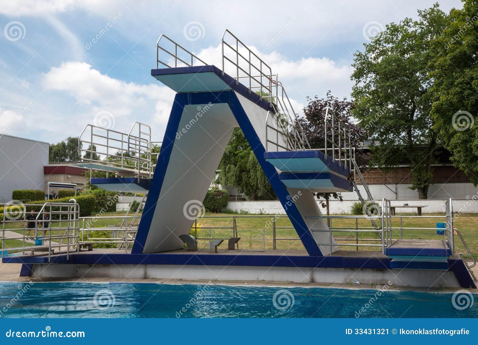 Diving Platform At Swimming Pool Stock Image Image 33431321