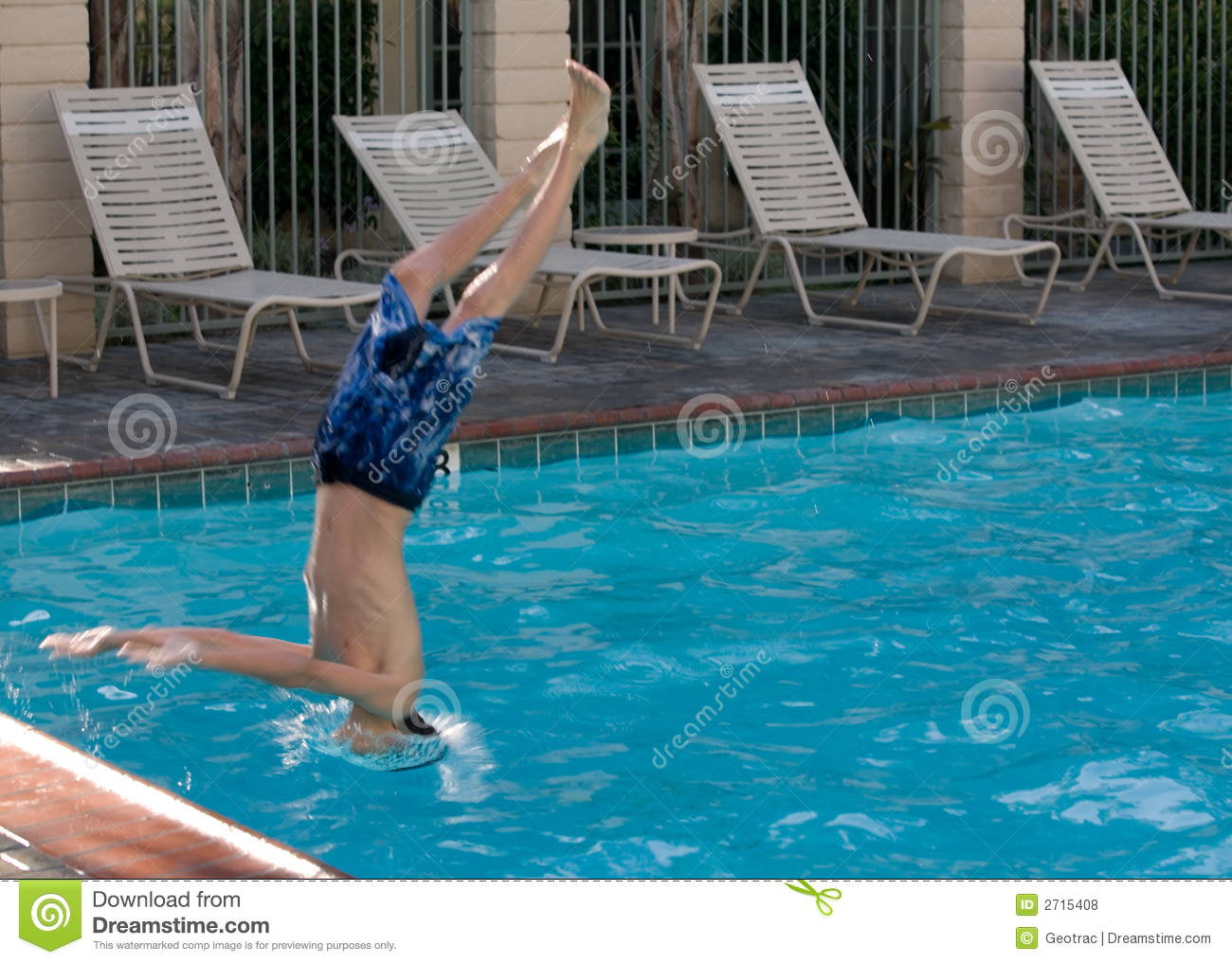 Diving into the pool stock photo image of child cool 2715408 for Swimming pool diving board tricks