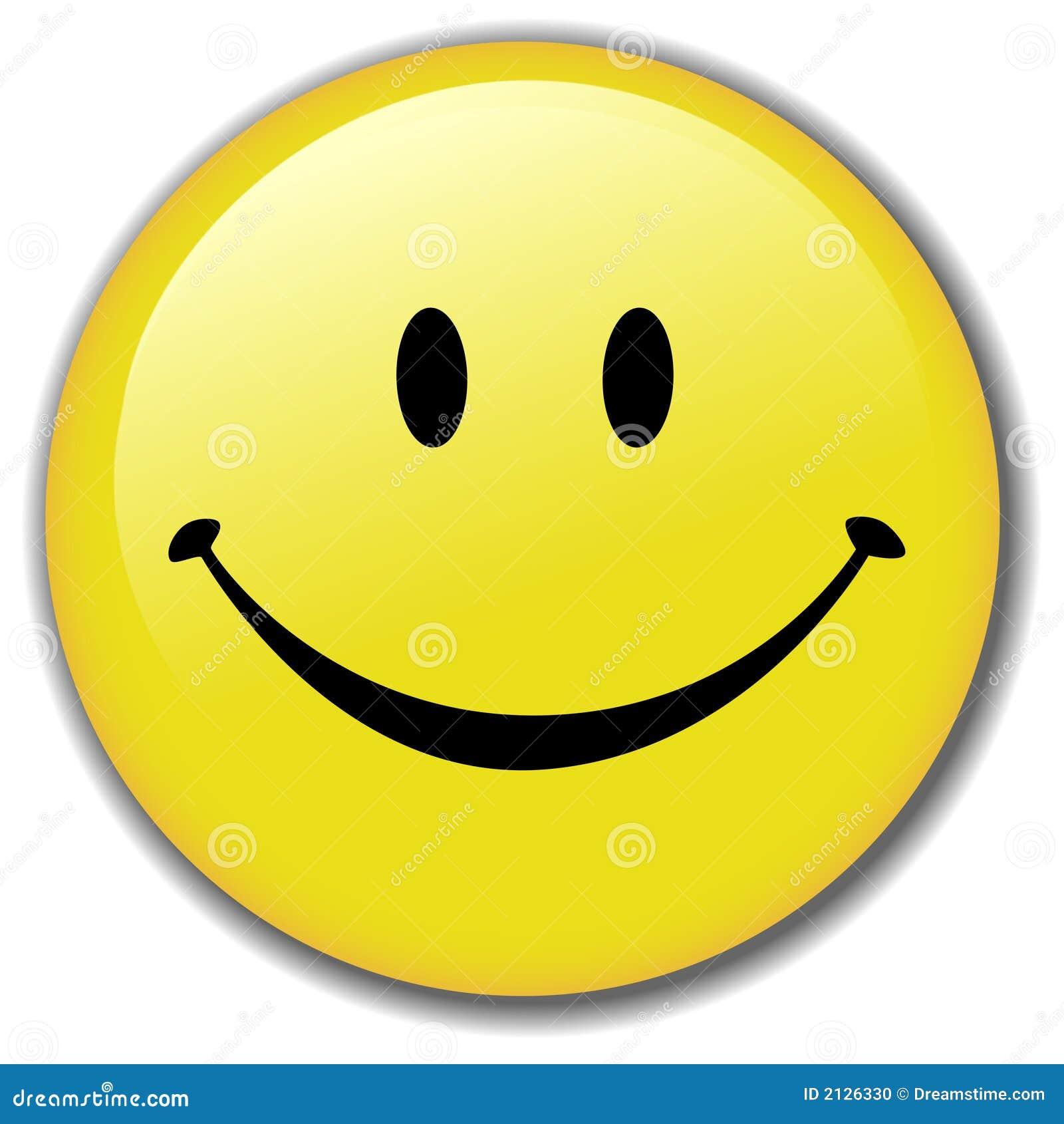 Divisa sonriente feliz del botón de la cara