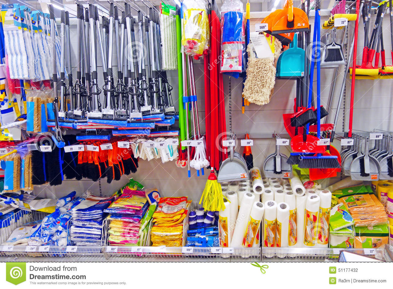Division of household goods in store stock photo image - Articulos de hogar baratos ...