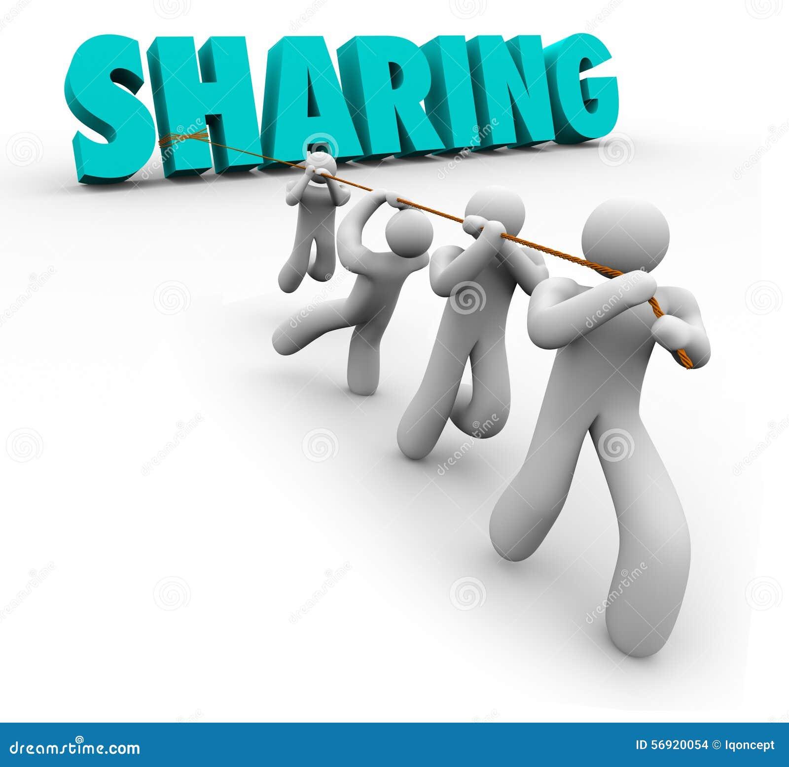 Divisione della gente Team Pulling Word Working Together di economia