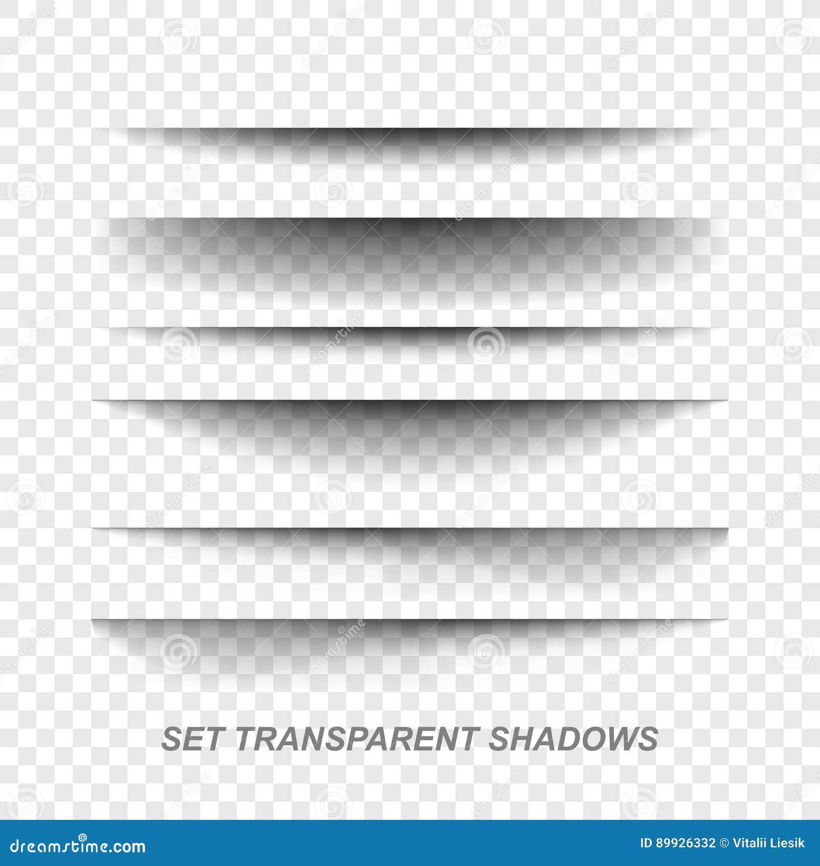 Divisor de la página Sistema de papel realista transparente del efecto de sombra Bandera del Web