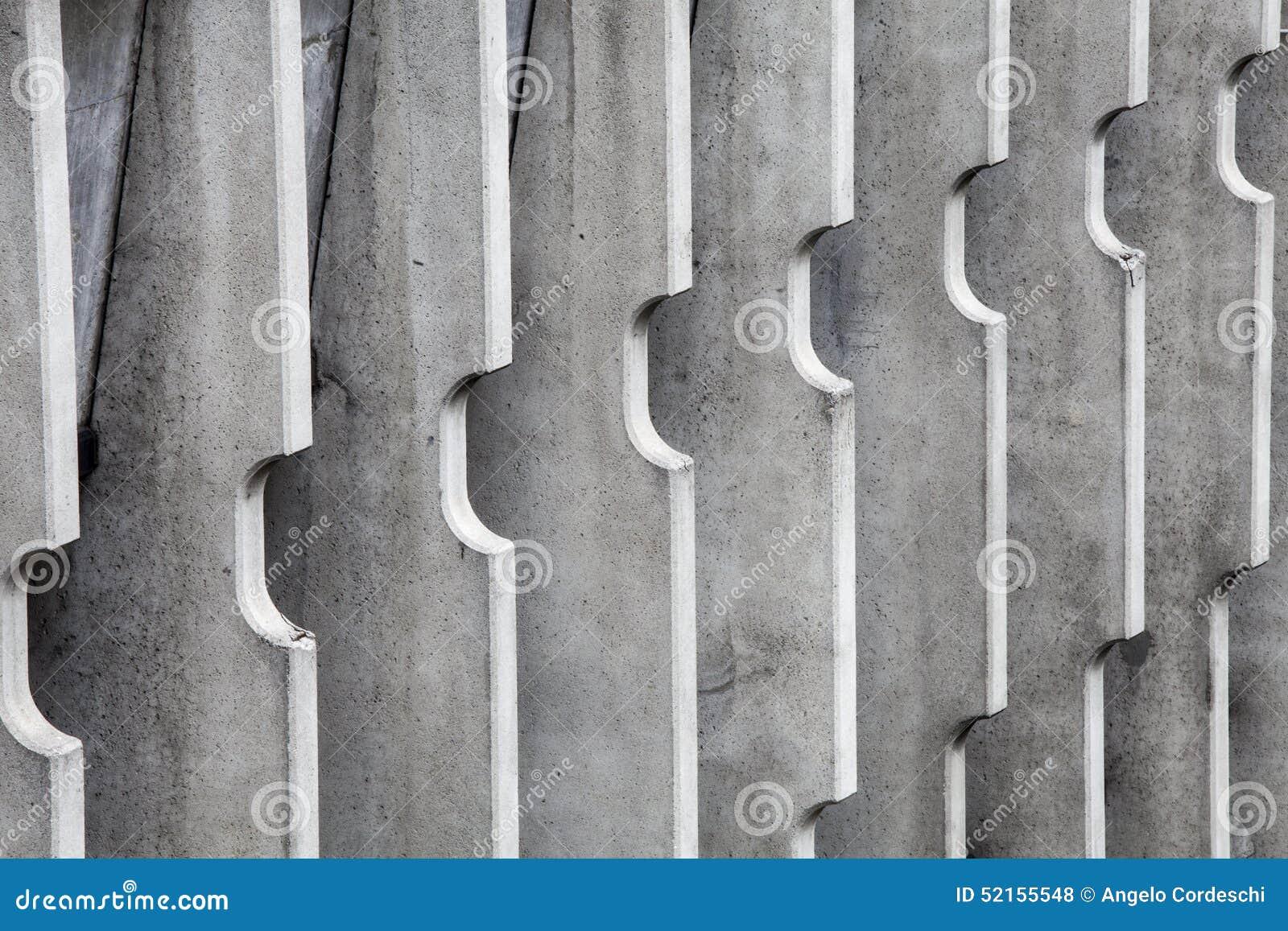 Divisores concretos Construção moderna das listras verticais