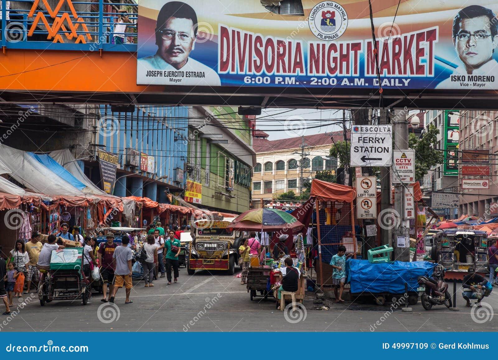 Food Night Market In Manila