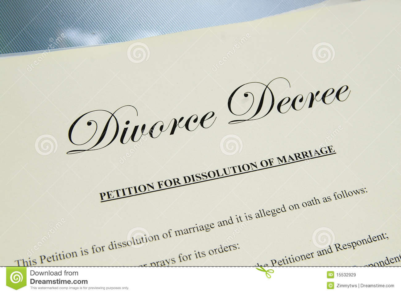Divorce Papers Royalty Free Stock Images - Image: 15532929