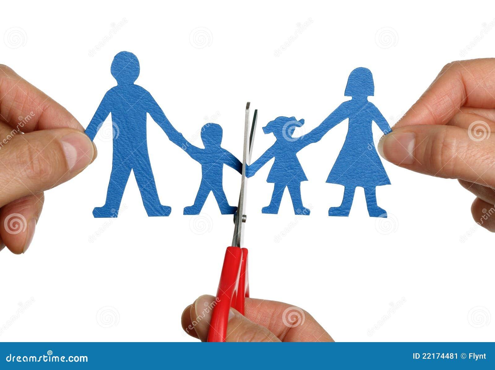 Divorcio de cadena de papel de la familia imagen de for Concepto de la familia para ninos