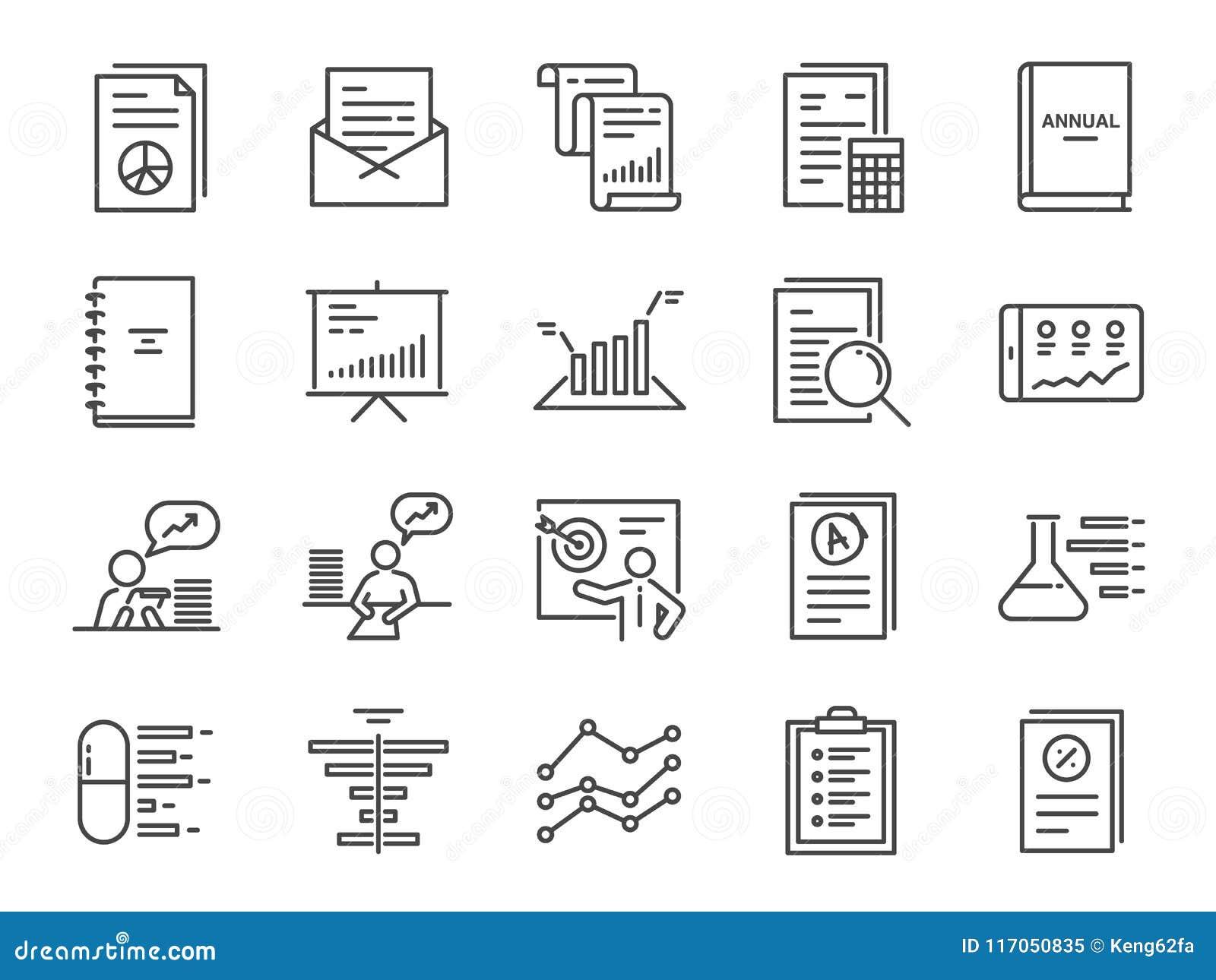 Divulgue El Sistema Del Icono Incluyó Los Iconos Como Informe, El ...