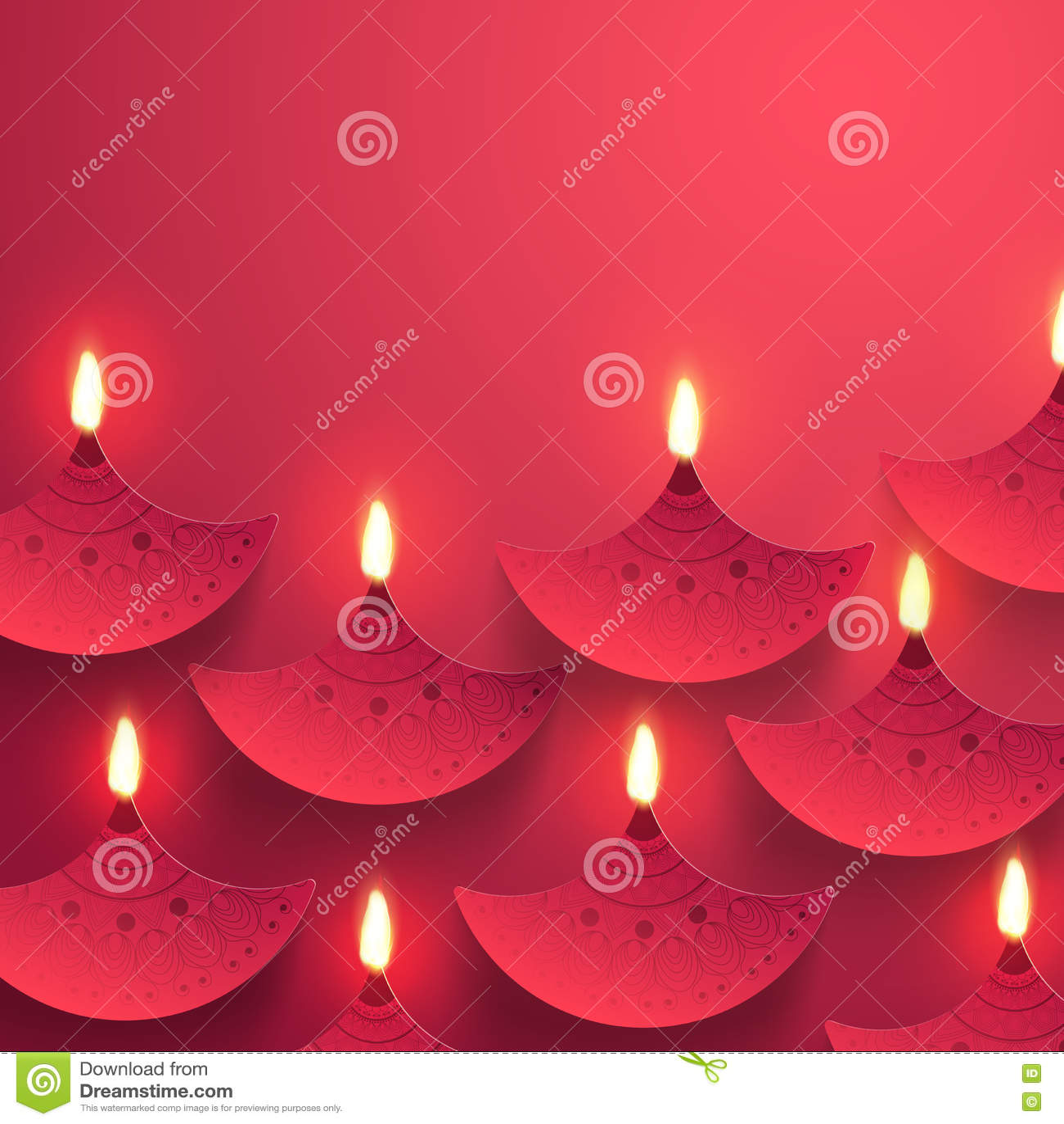 Diwali berömbakgrund med olje- lampor & x28; Diya& x29;