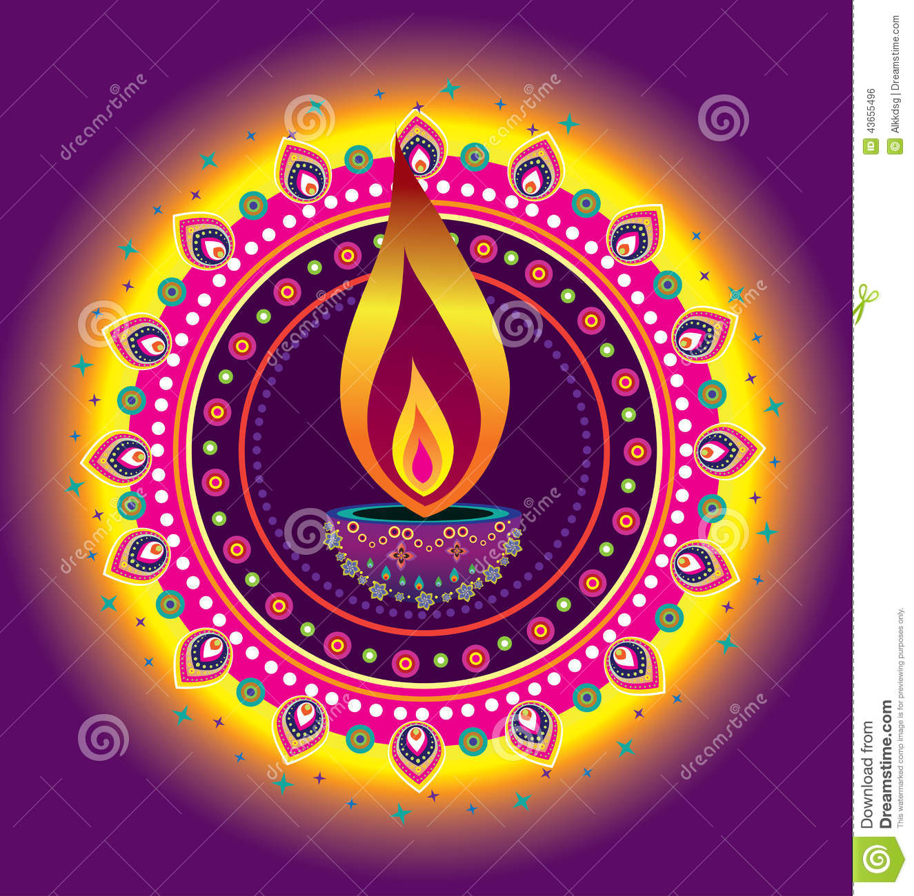Diwali Candle Light Cartoon Vector Cartoondealer Com 42130311