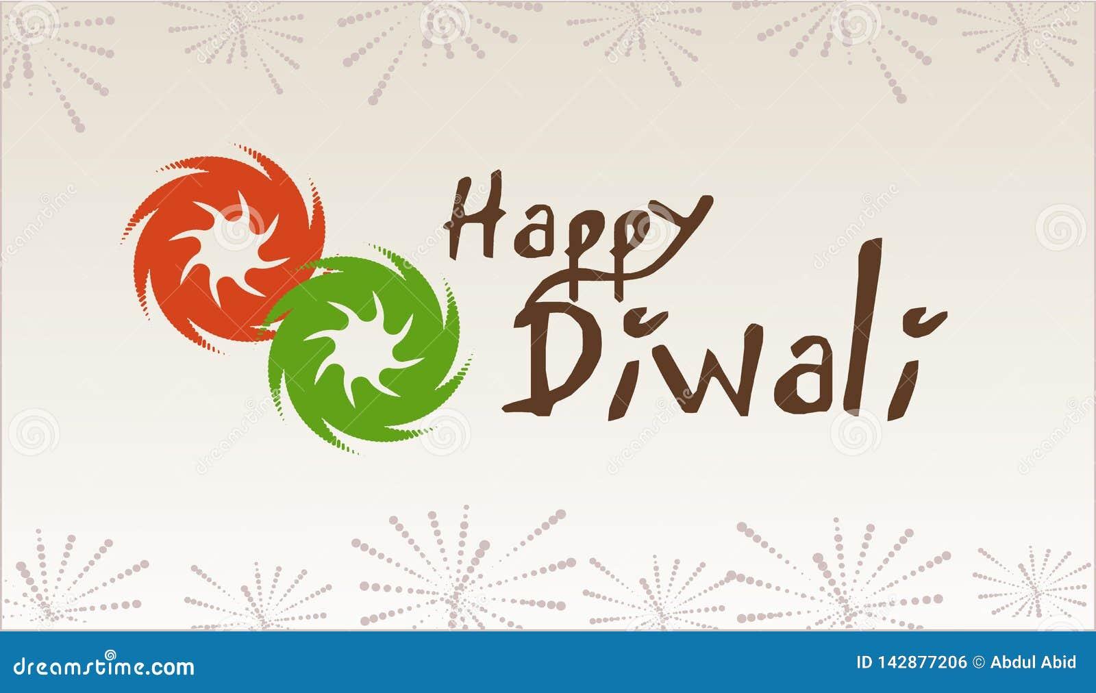 Diwali: Cartão feliz de Diwali e festival da iluminação