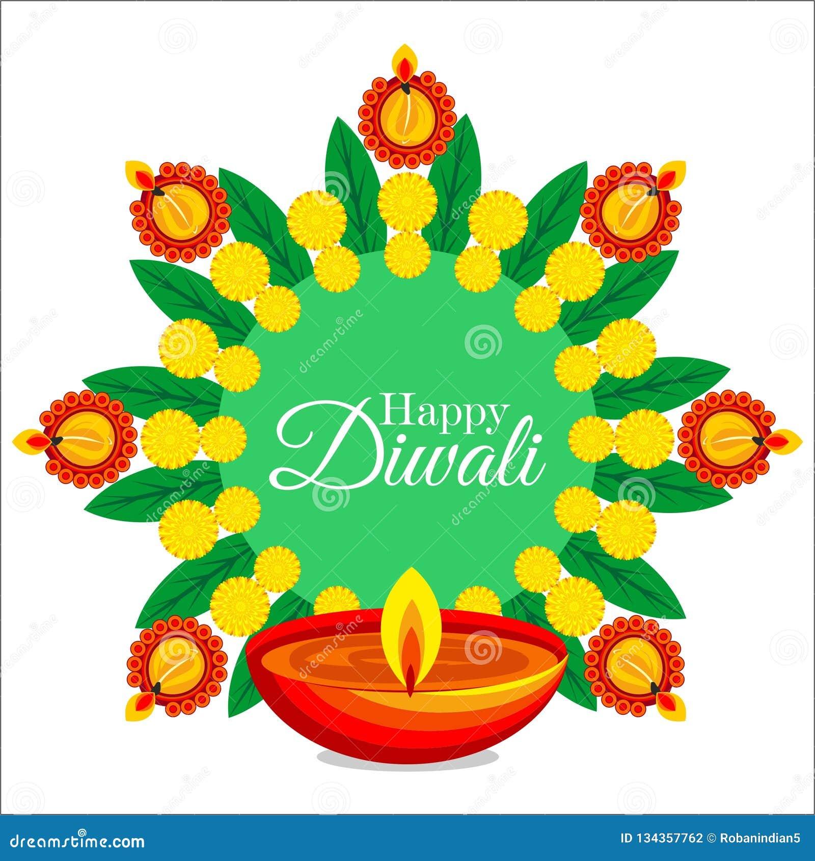 Diwali celebration india happy creative illustration diya diyas lights indian north colour rangoli fest festival art drawing religous god worship asia asian