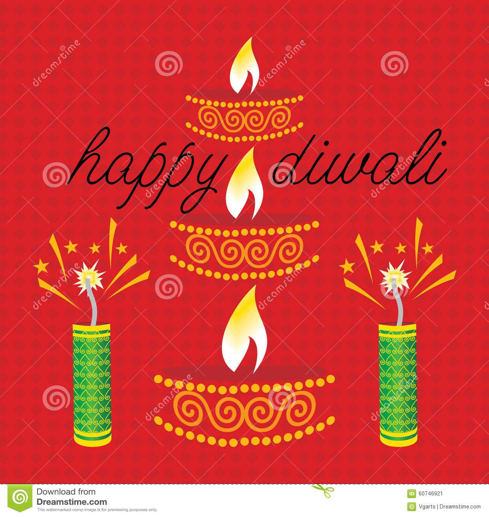 Diwali Concept Stock Vector Illustration Of Cracker 60746921