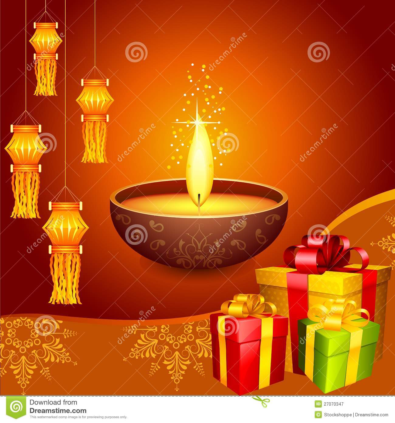 Decorating Home For Diwali: Diwali Decoration Royalty Free Stock Photography