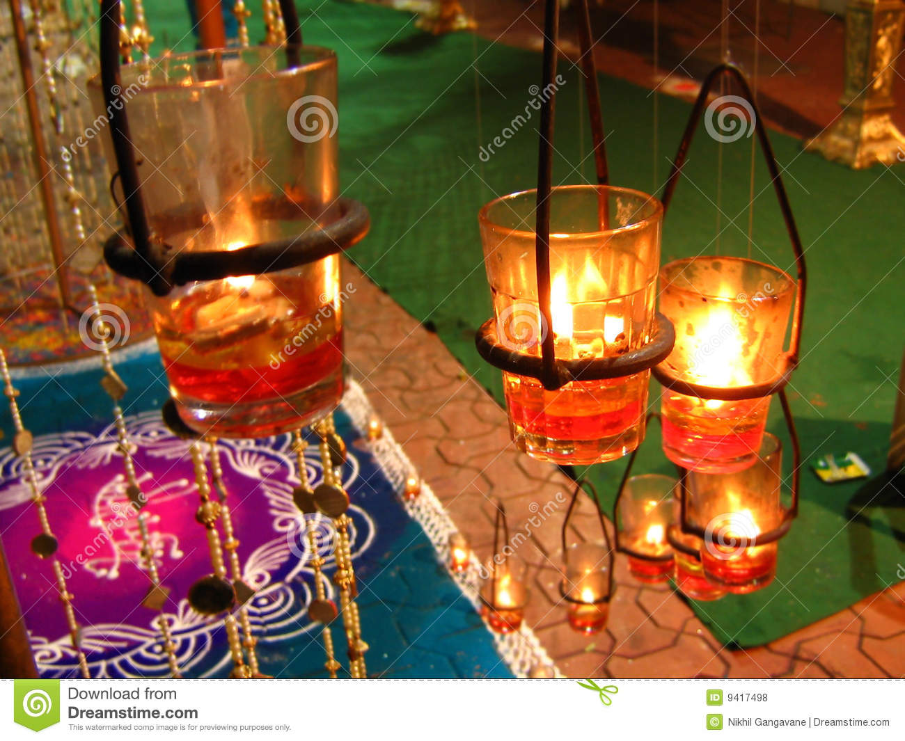 Diwali Decoration Stock Photo Image Of Deepawali Glass
