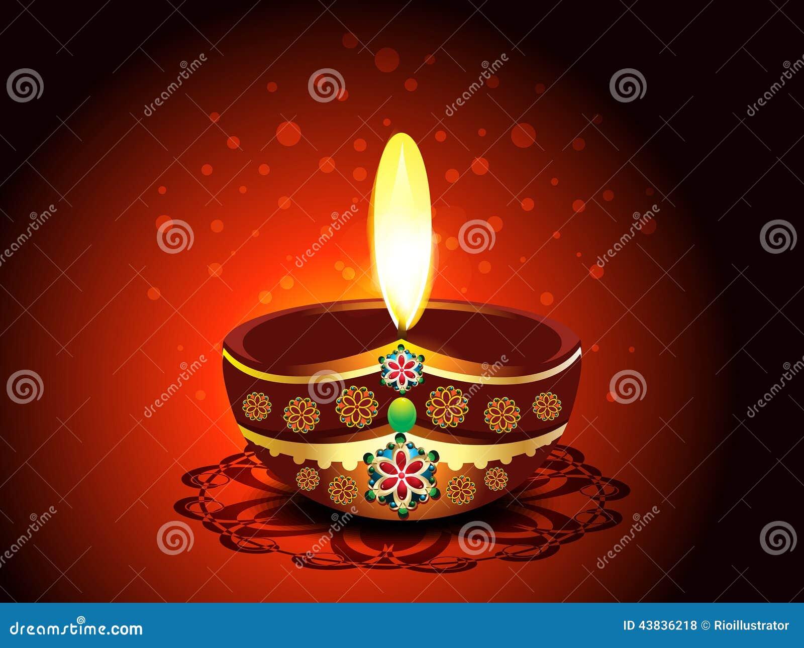 Diwali Deepak Background Stock Vector - Image: 43836218  Diwali Deepak B...