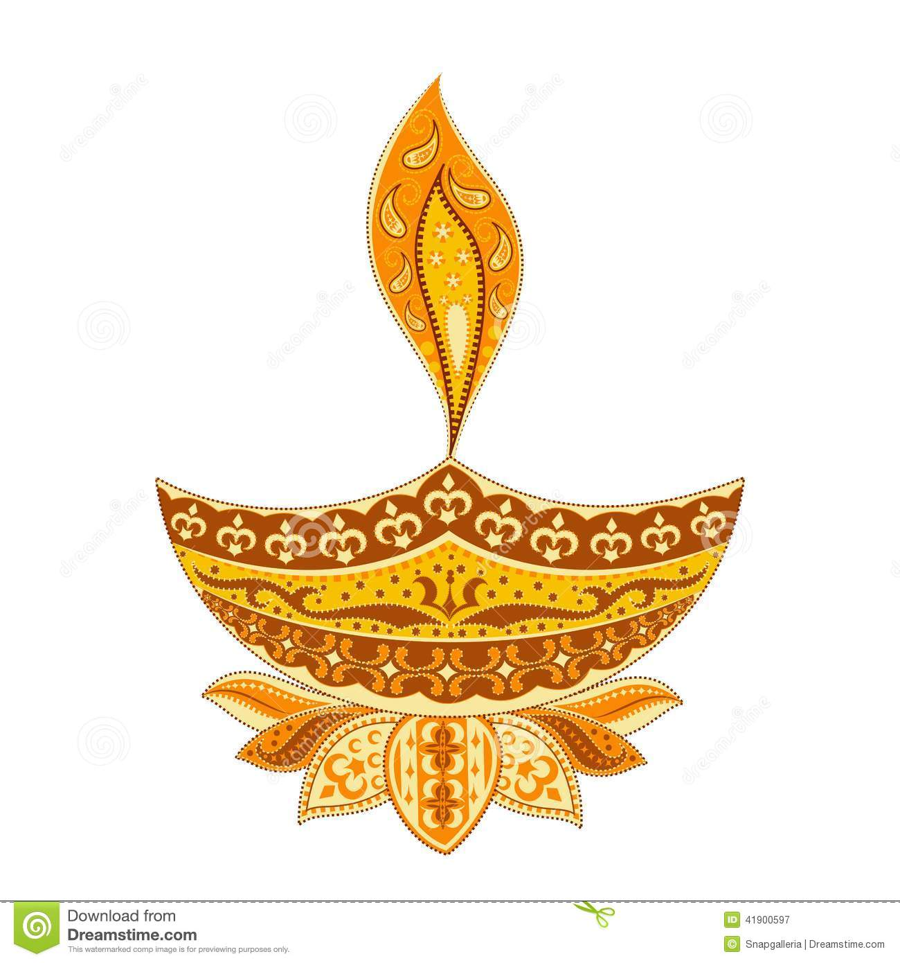 Diwali Diya stock vector. Illustration of diya, hinduism - 41900597 for Diwali Lamp Designs  197uhy