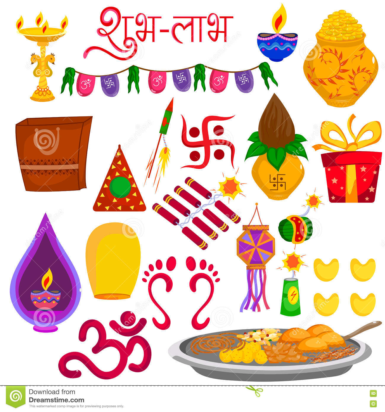 Indian Festival Decoration Decorative Object For Indian Festival Stock Vector Image 60856507