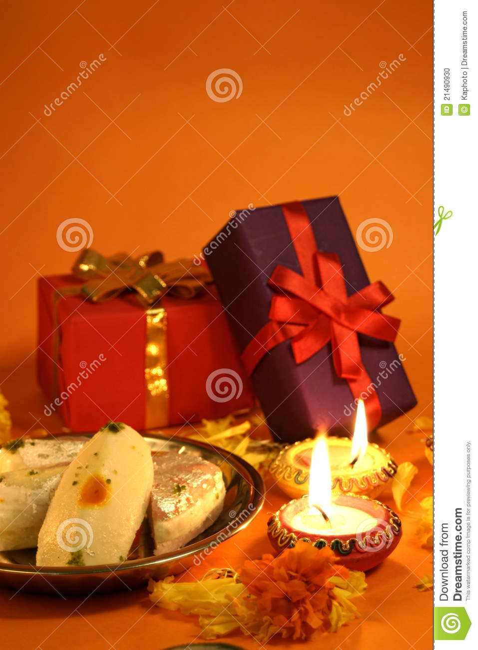 Diwali Gifts And Sweets Stock Photo Image 21490930