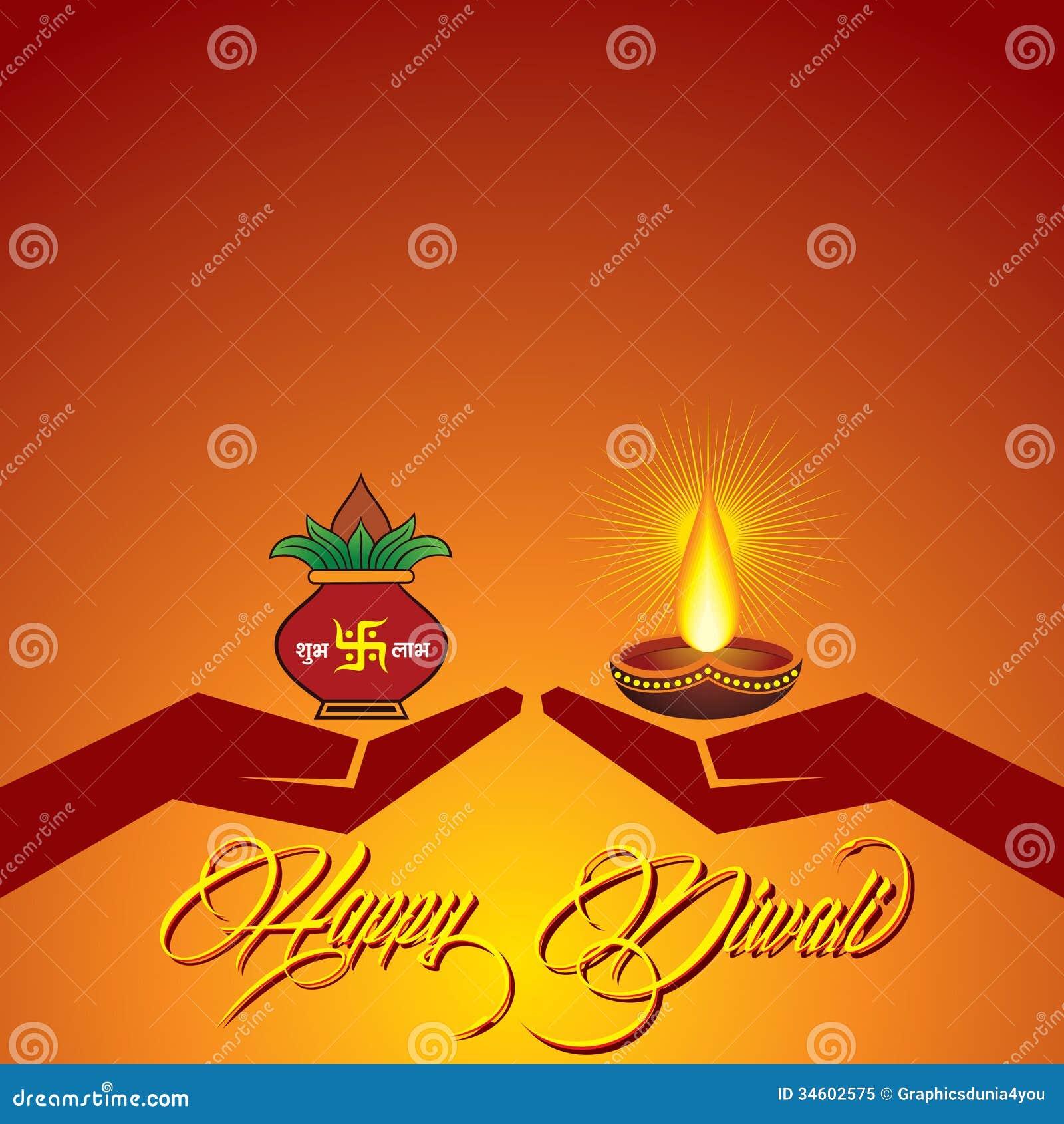 Diwali Greeting Background Stock Vector Illustration Of Diwali