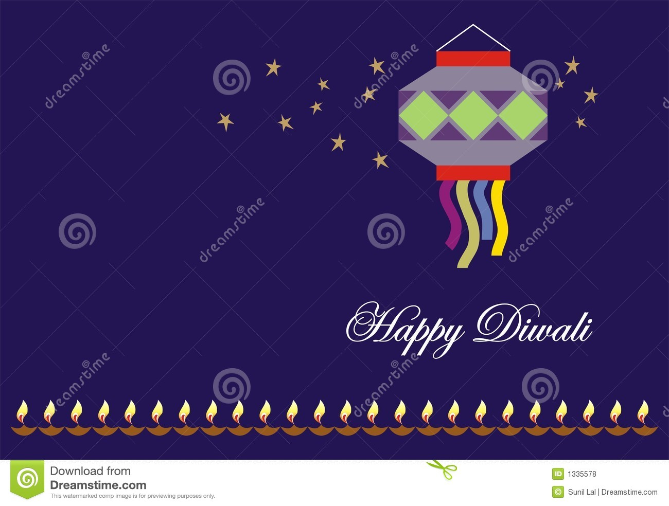 Diwali greeting card stock illustration illustration of burn 1335578 diwali greeting card m4hsunfo