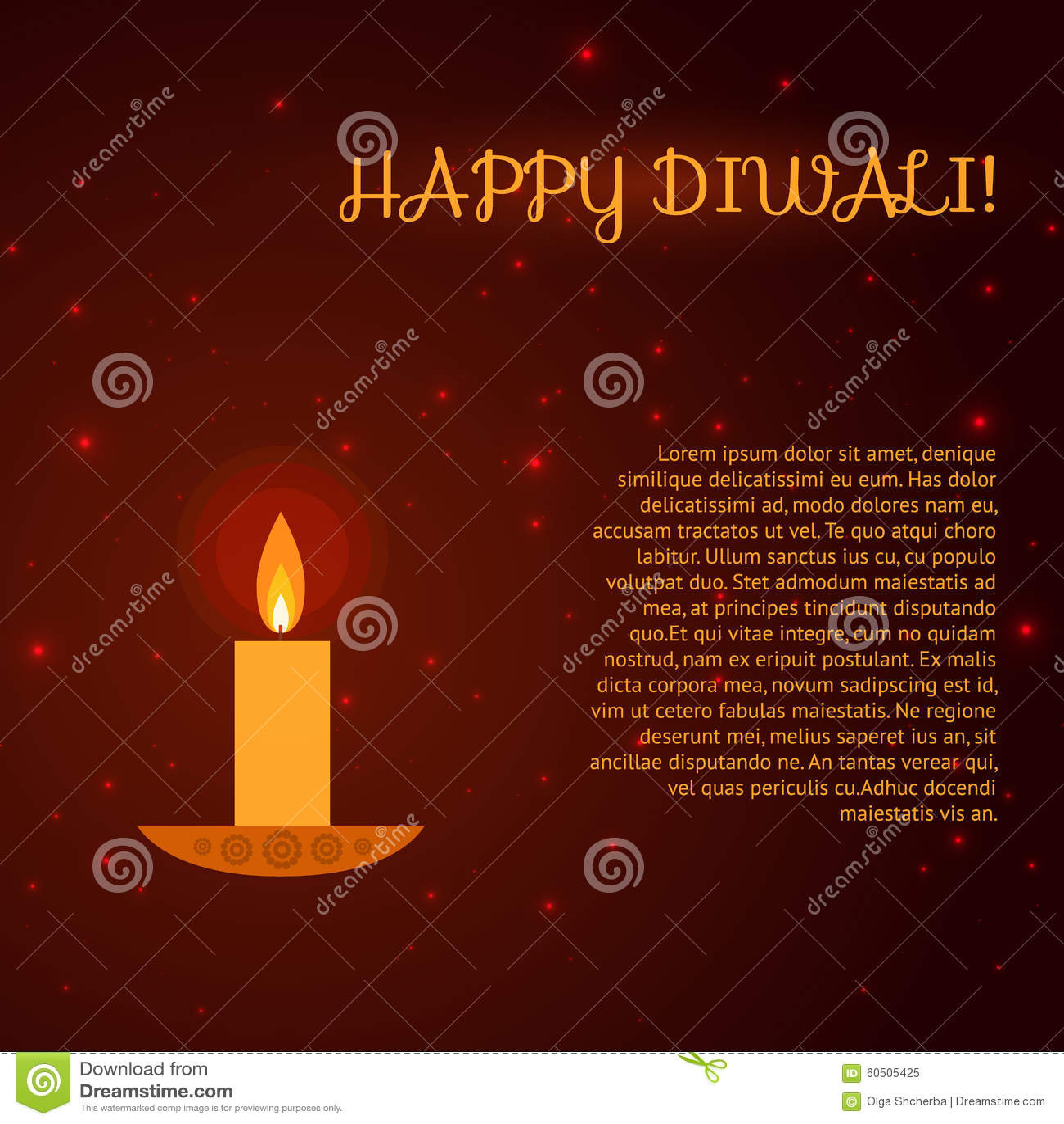 Diwali Greeting Card Stock Vector Illustration Of Happy 60505425
