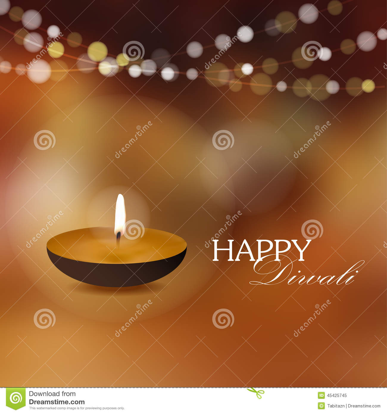 Diwali greeting card invitation with diya oil lamp stock vector download comp stopboris Choice Image