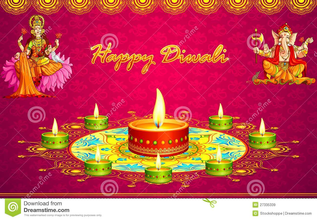 Diwali Greetings Stock Vector Illustration Of Cultural 27335339