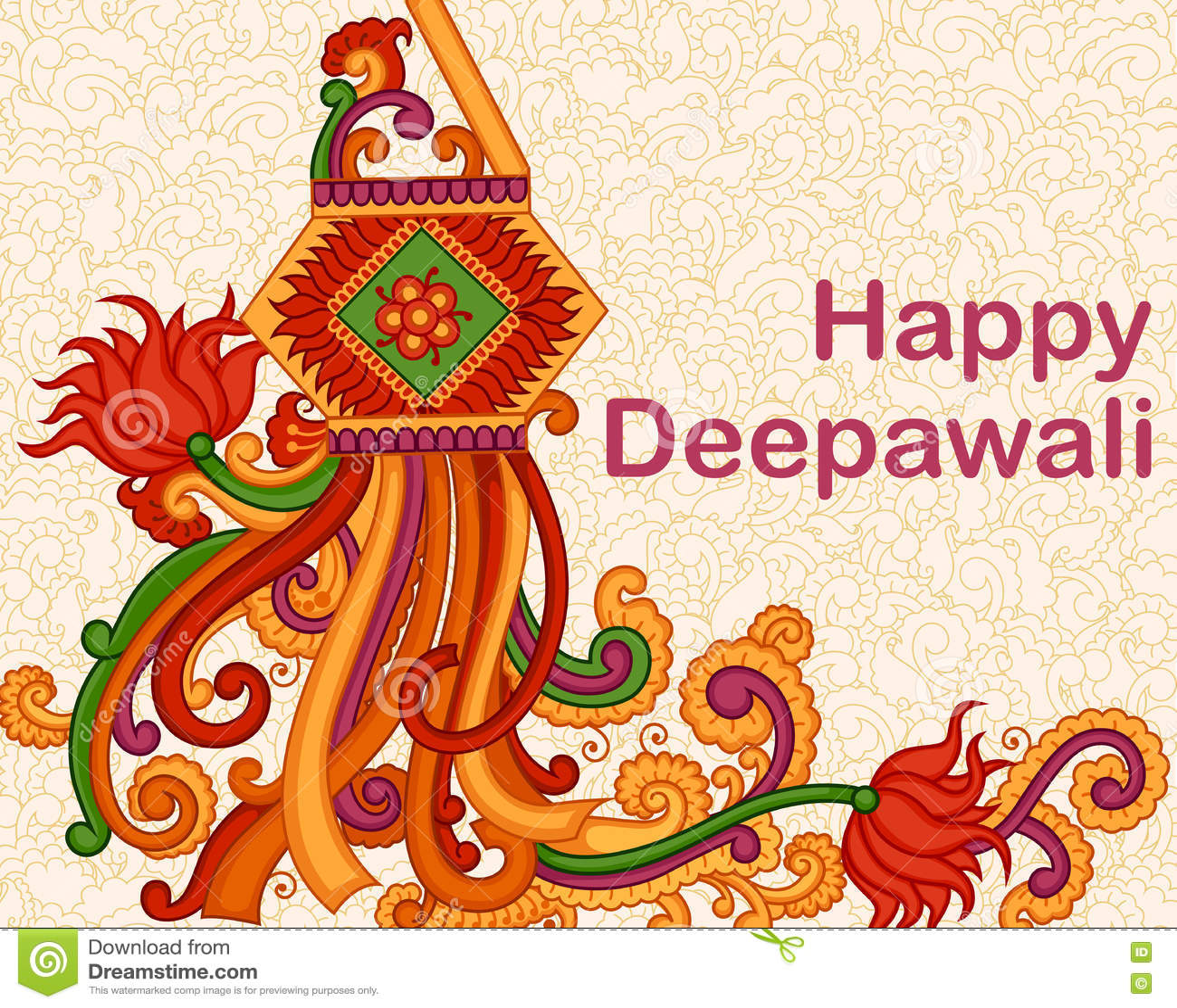 Diwali Hanging Lamp Stock Vector. Image Of Enjoyment