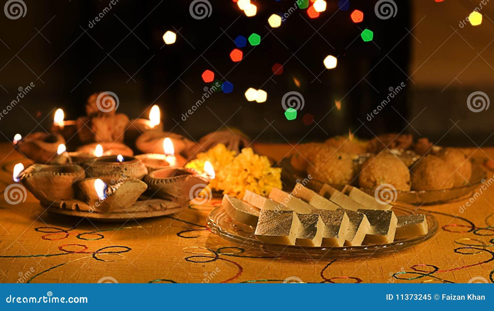 Diwali indyjscy lamp cukierki
