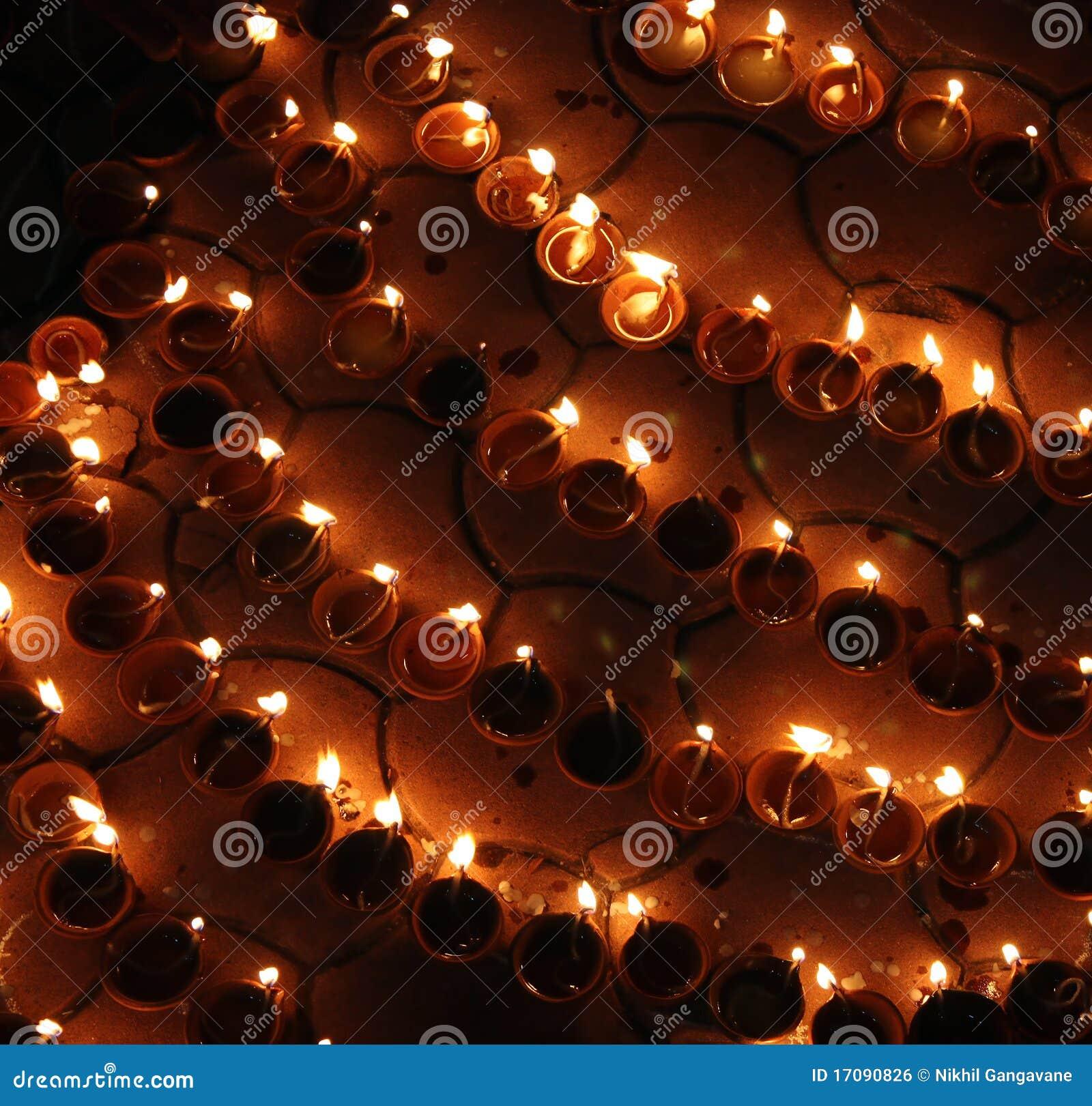 Diwali lampy