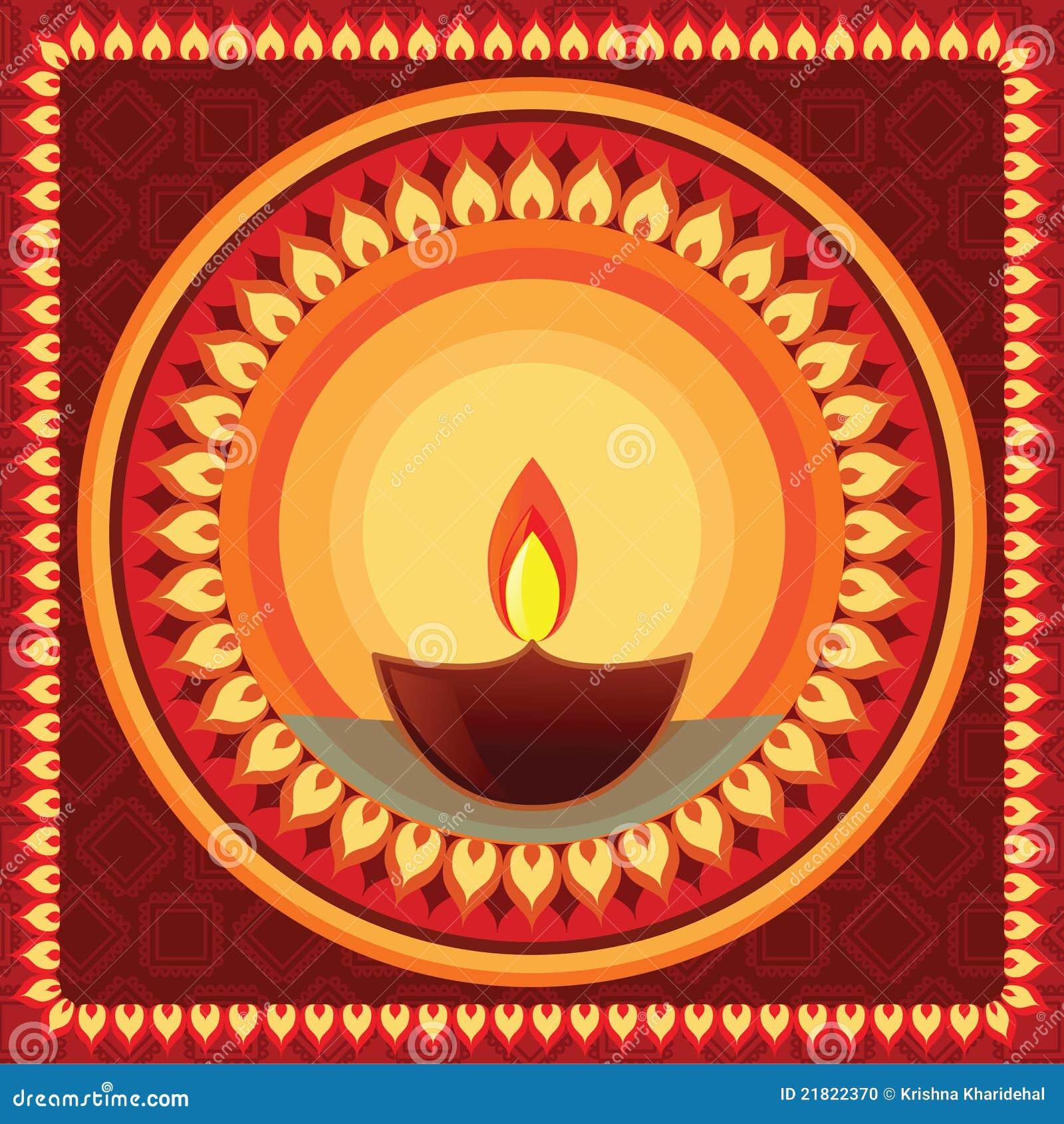 Diwali Mandala Stock Illustration Illustration Of Culture 21822370