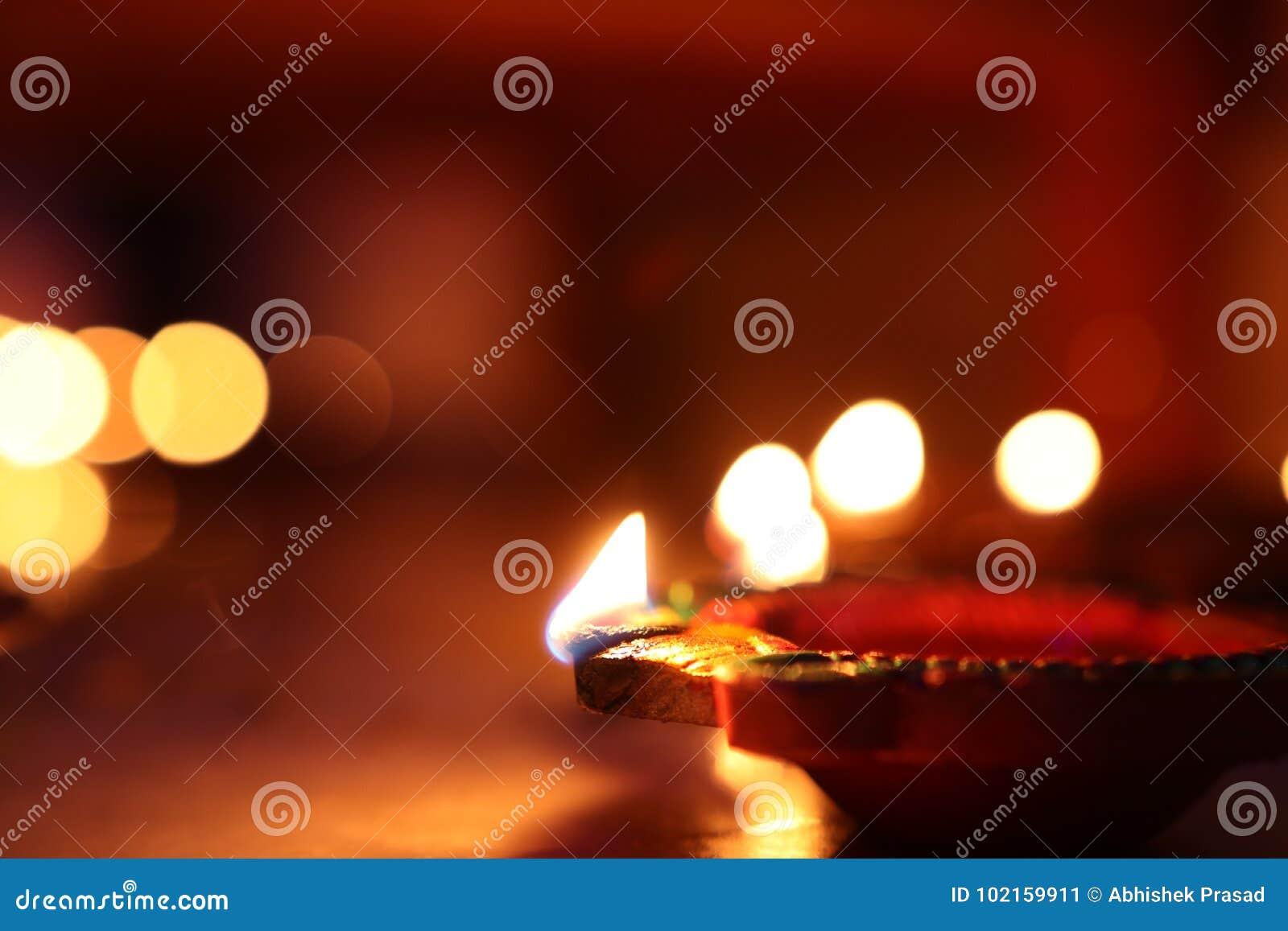 Diwali oświetlenie z diya