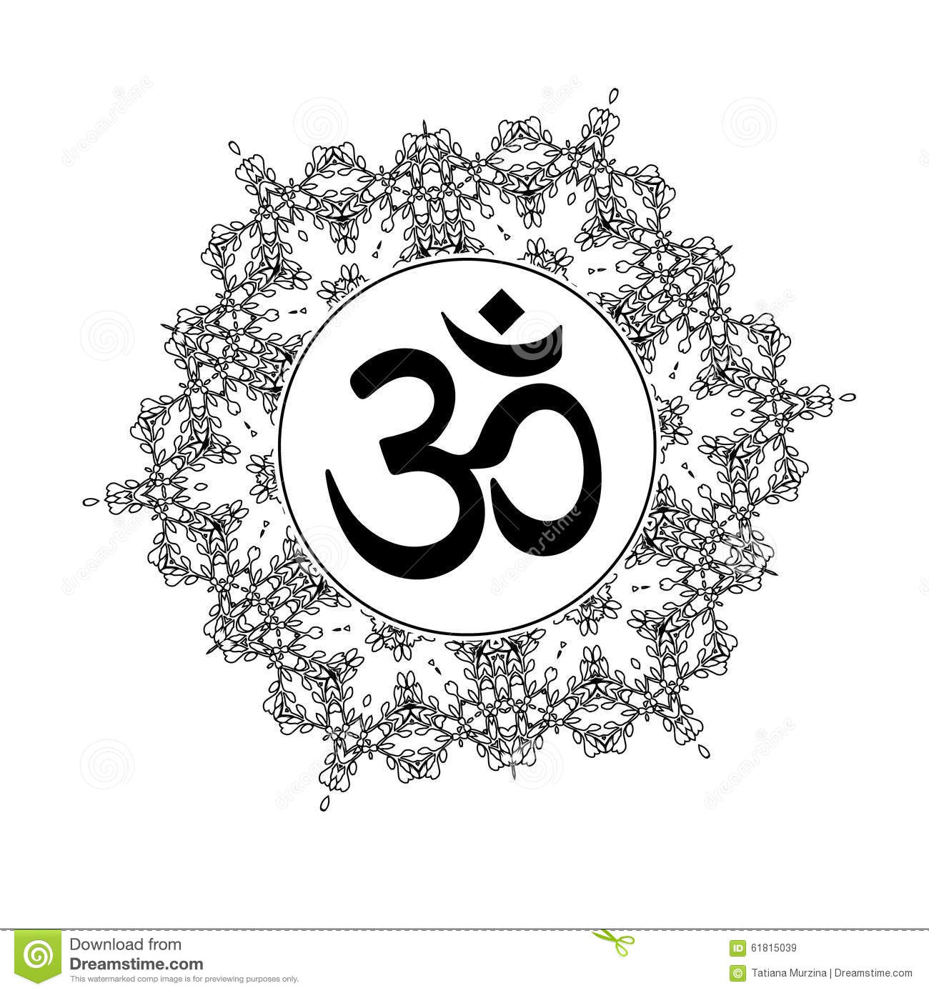 Om in round mandala stock vector illustration of ornament 65497051 diwali om symbol with mandala royalty free stock images biocorpaavc