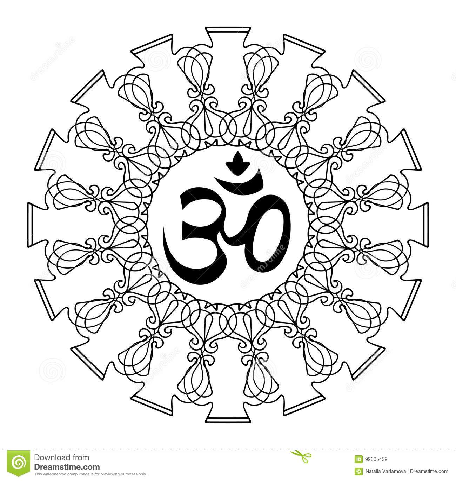 Diwali om symbol z mandala