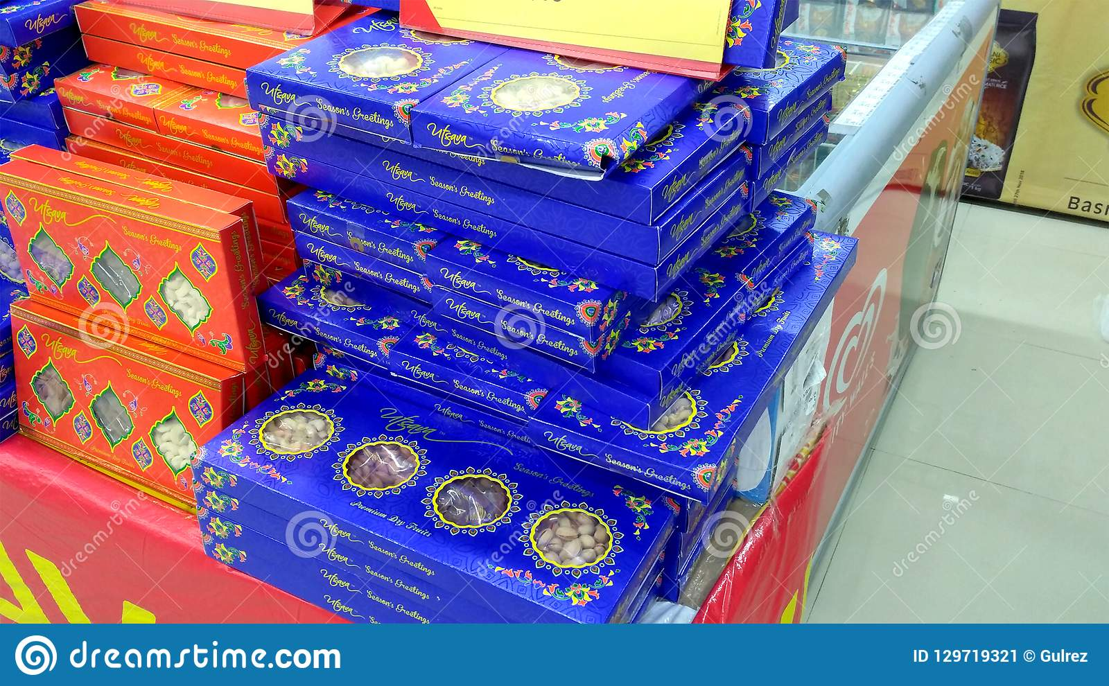 Diwali Sweets Packets in Super Market