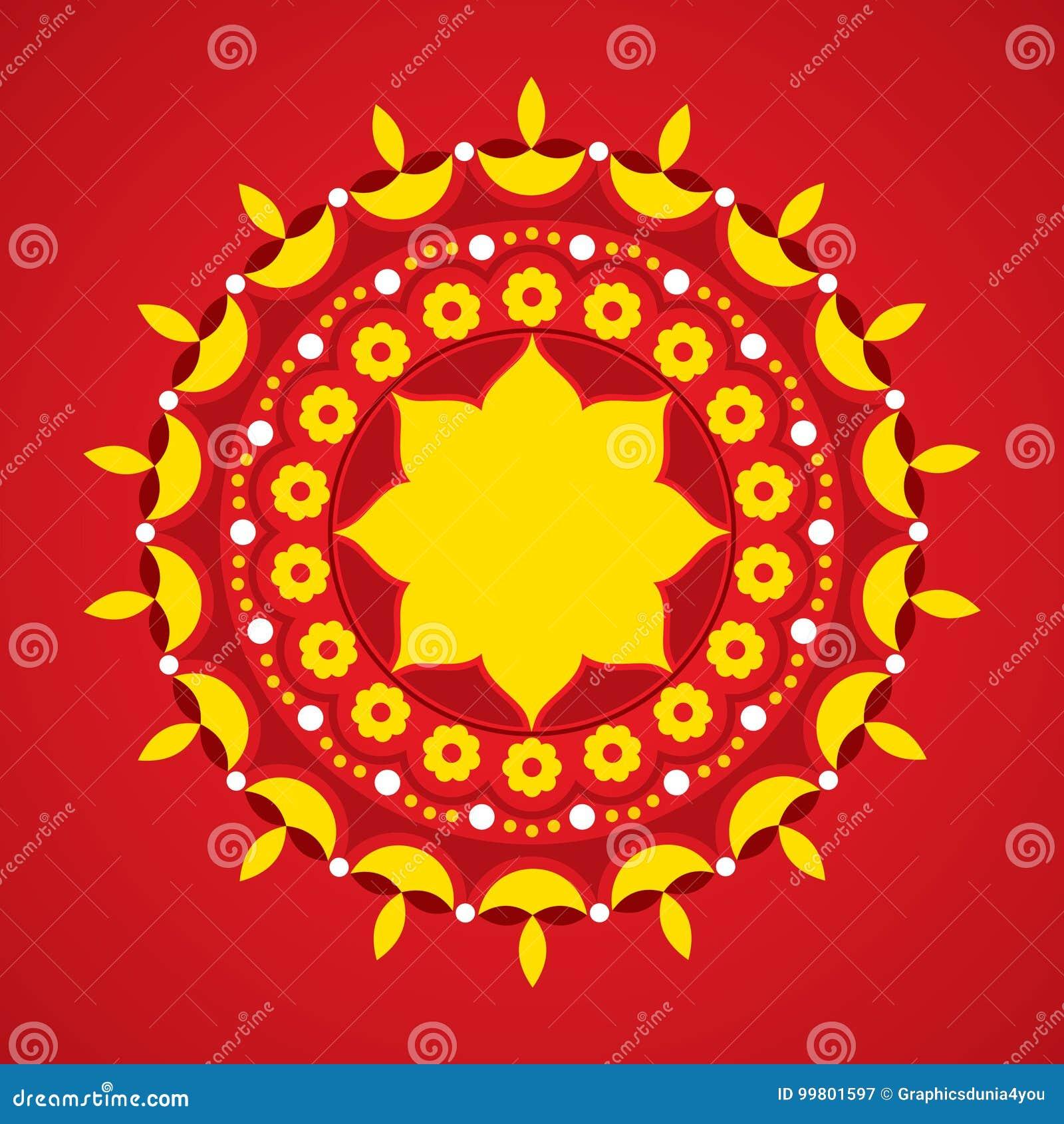 Illustration Of Diwali Utsav Greeting Or Poster Card Stock Vector