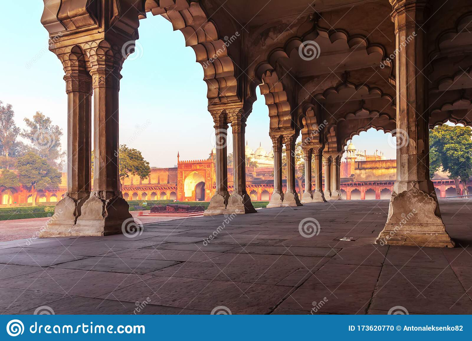 Picture/Photo: Arches in Diwan-i-Am, Red Fort. New Delhi