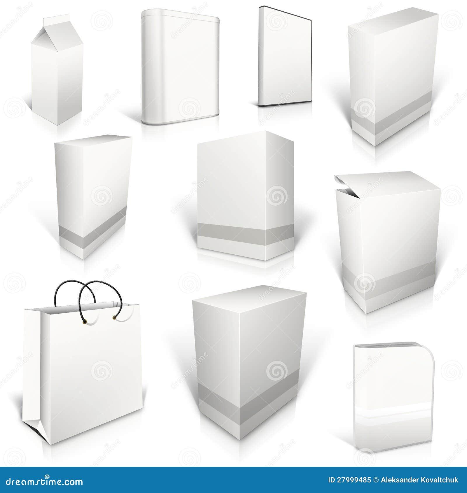 Dix cadres blanc blancs sur le blanc