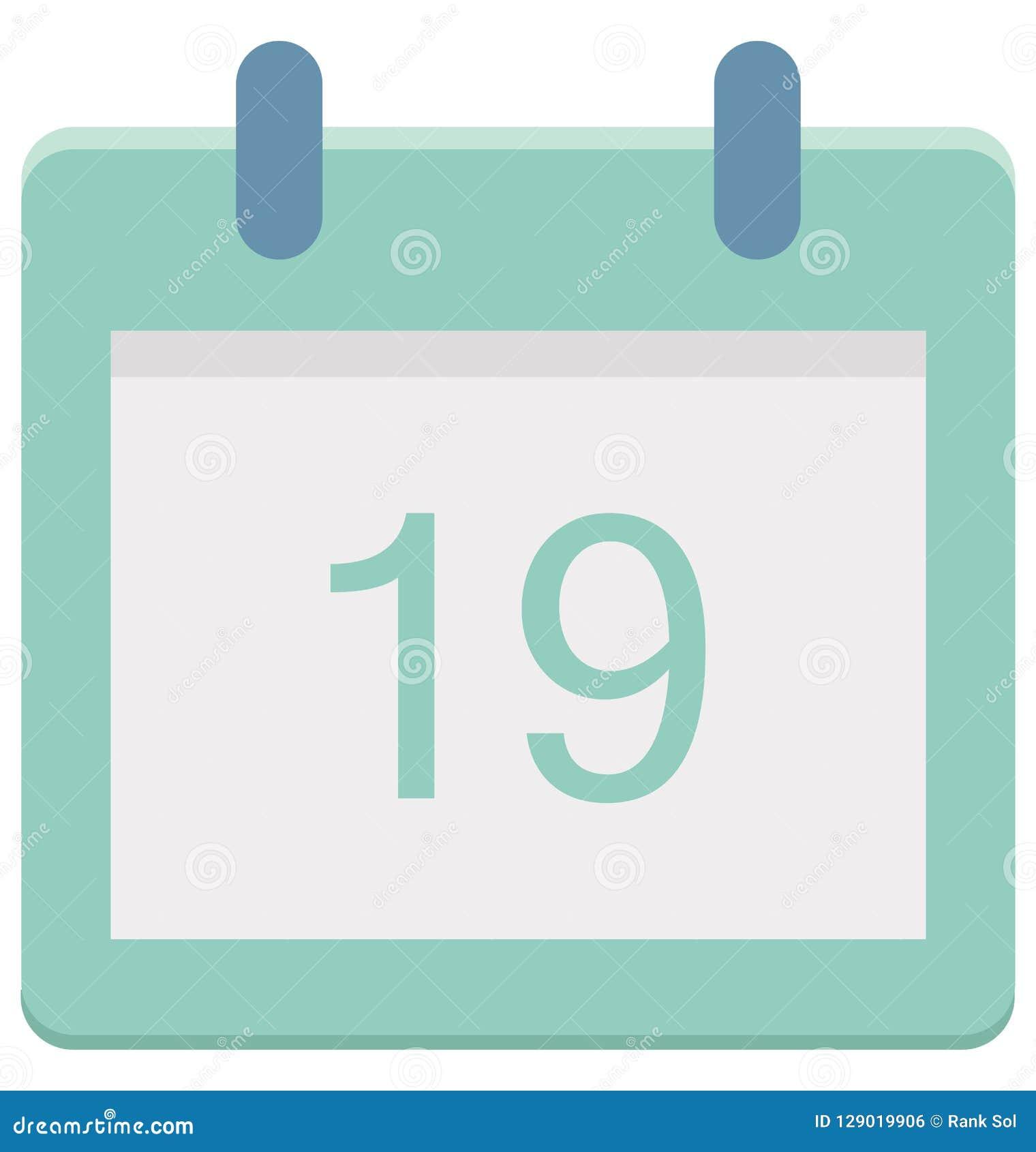 Dix-neuf, dix-neuf icônes de vecteur de jour d événement spécial qui peut être facilement modifiée ou éditée