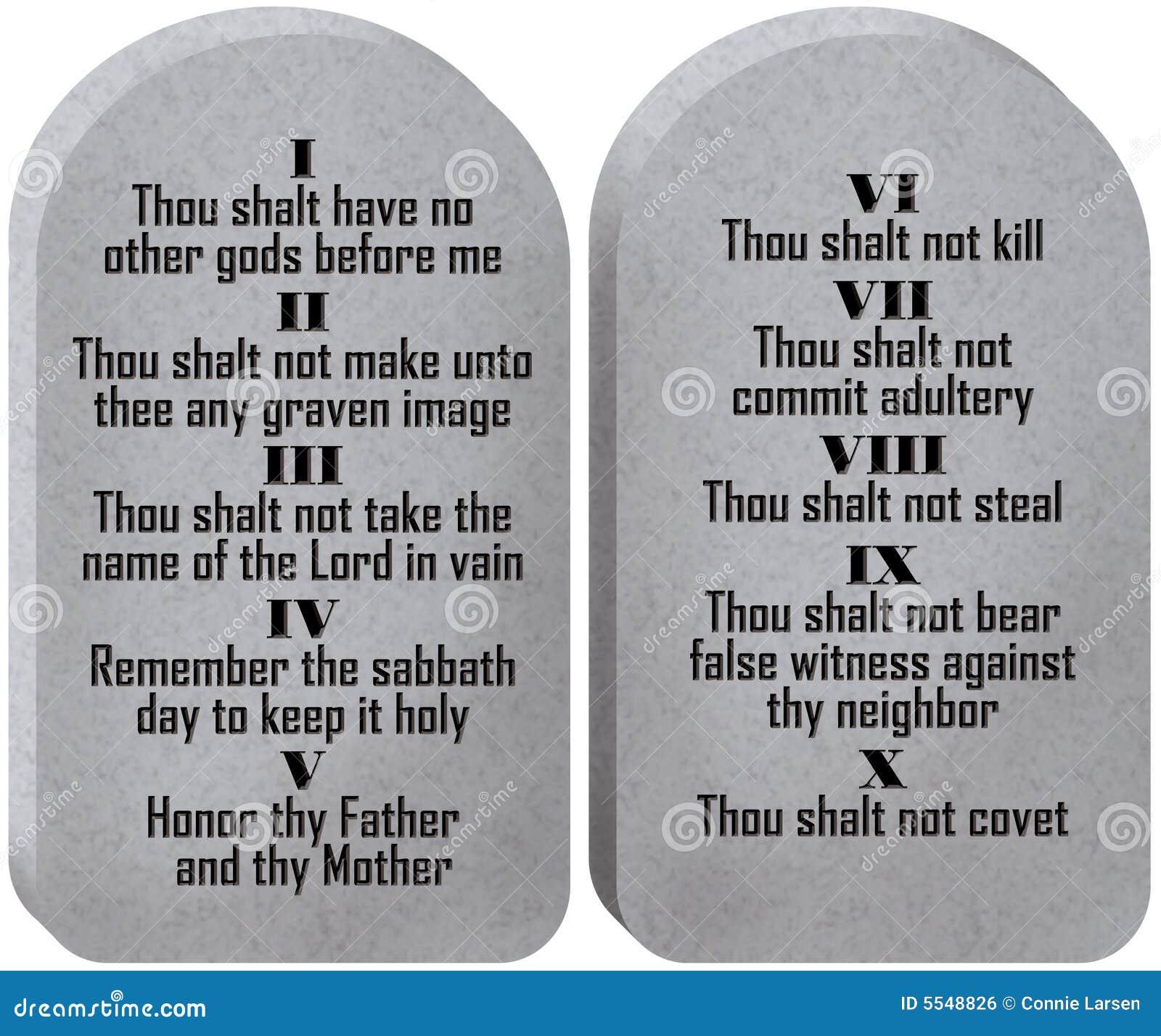 Dix tablettes de commandements