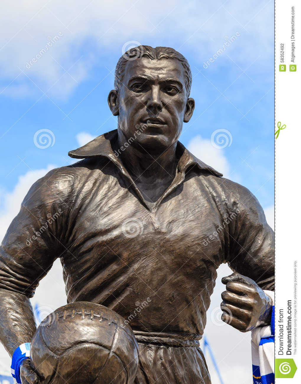 Dixie Dean Statue editorial photography Image of icon