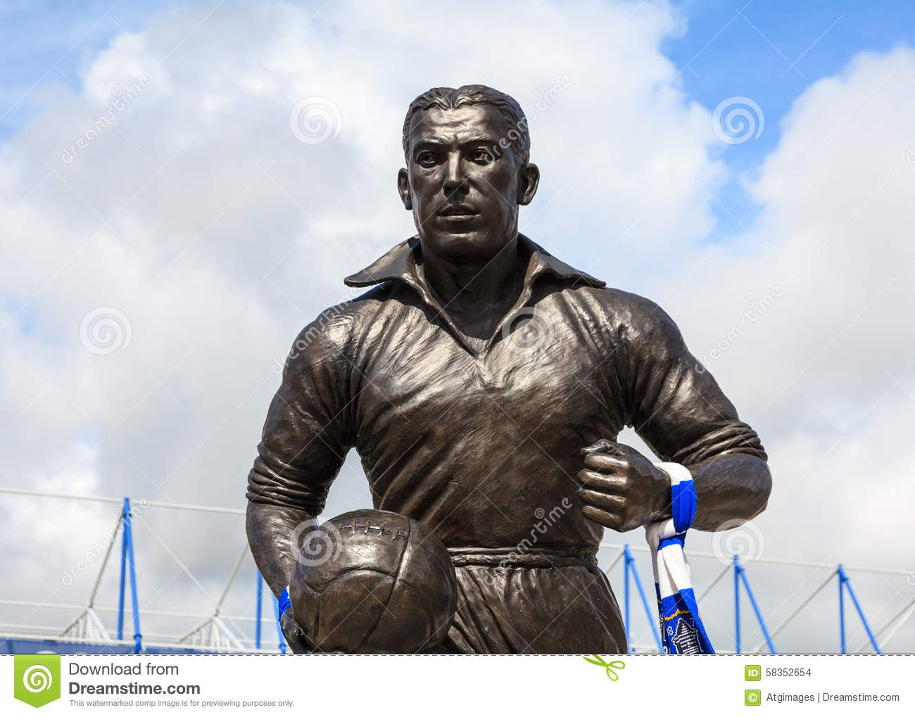 Dixie Dean Statue editorial stock image Image of blue