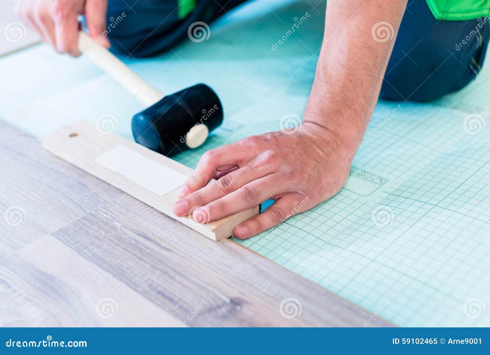 DIY工作员地板公寓地板