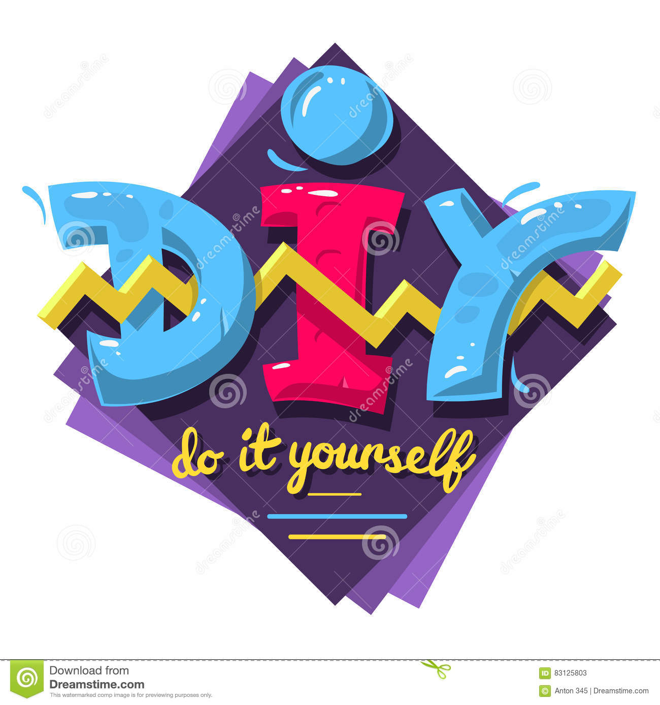 Diy acronym do it yourself 90 s vibrant colors aesthetic typ stock diy acronym do it yourself 90 s vibrant colors aesthetic typ solutioingenieria Images