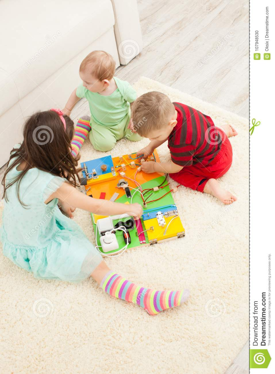 Diy Busy Board Stock Photo Image Of Children Gate 107948530