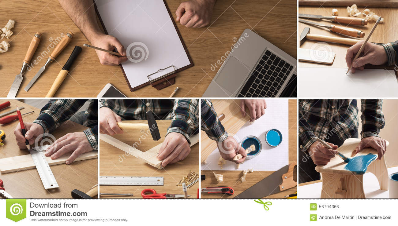 Diy And Carpentry Collage Stock Photo Image Of Professional 56794366