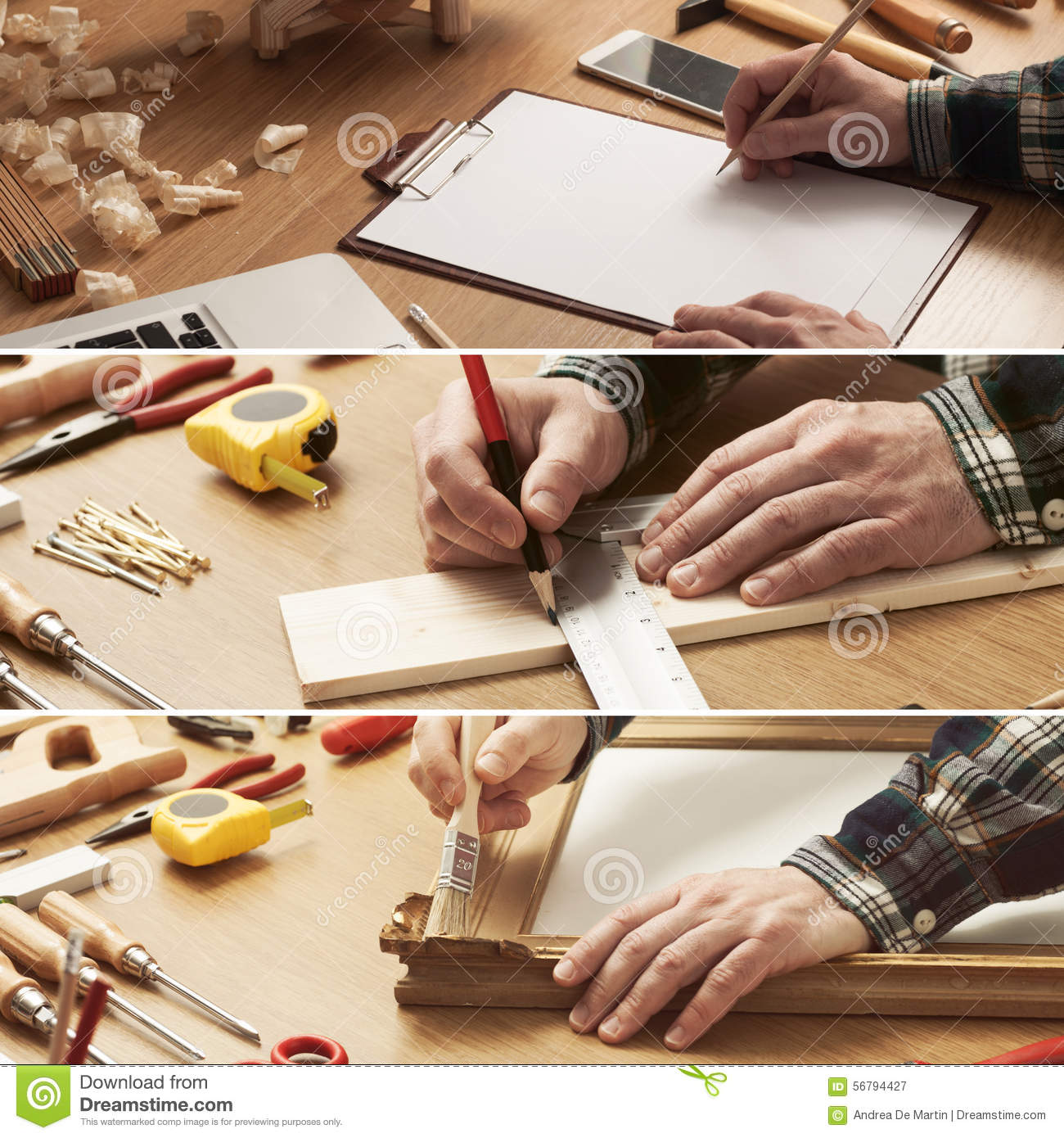 Diy and carpentry collage stock image image of collage for Do it yourself home improvement projects
