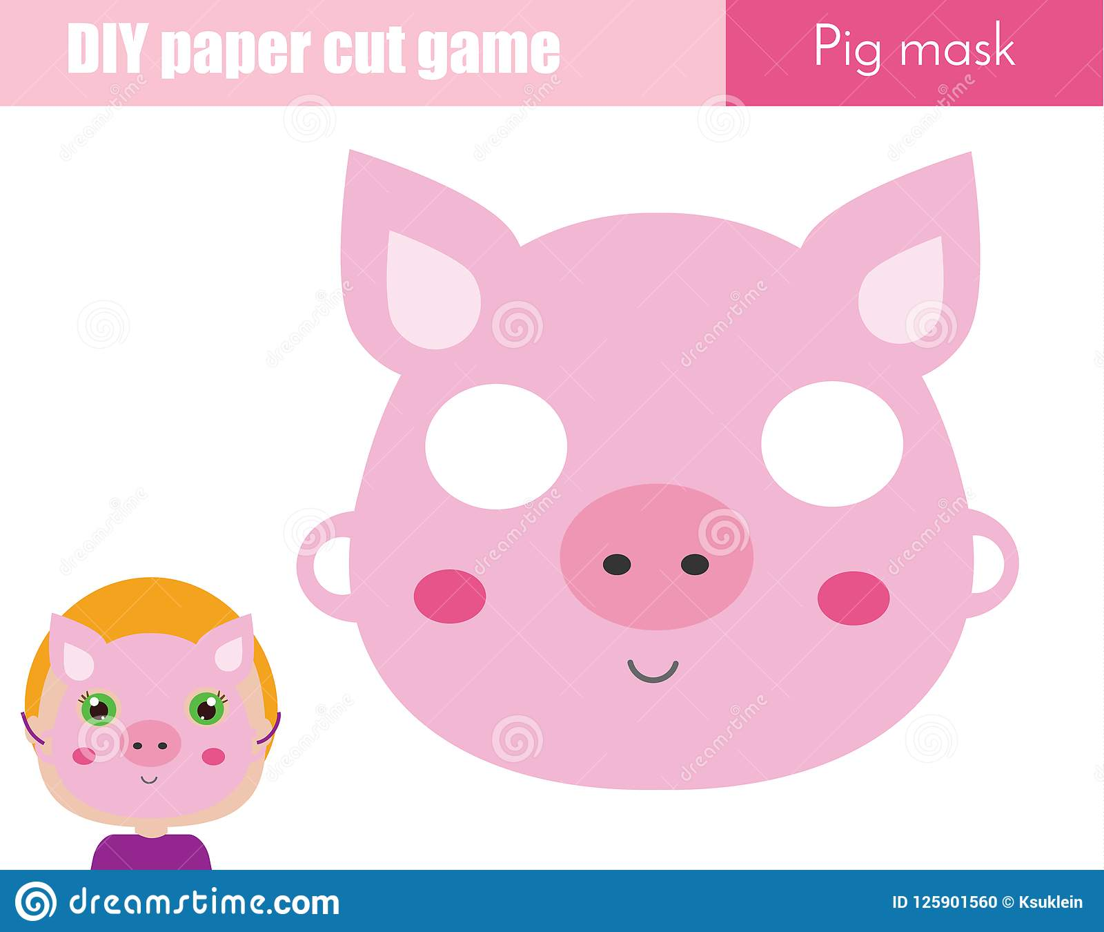 image about Printable Masks for Kids known as Do it yourself Young children Insightful Innovative Recreation. Generate An Animal Celebration