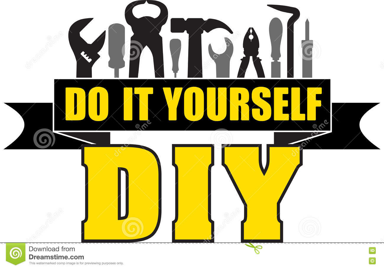 Diy do it yourself banner with silhouettes of workers tools ham diy do it yourself banner with silhouettes of workers tools ham solutioingenieria Gallery